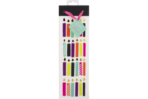 Revel Birthday Candle Wine Bag