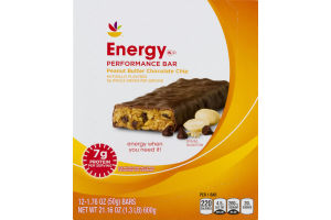 Ahold Energy High Protein Bar Peanut Butter Chocolate Chip - 12 CT