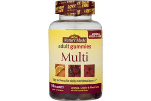 Nature Made Adult Gummies Multi Orange, Cherry & Mixed Berry - 90 CT