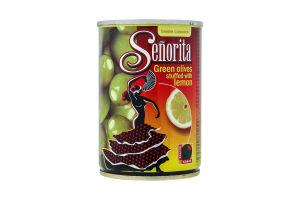 Оливки Сеньйорита фаршировані лимоном 280мл ж/б