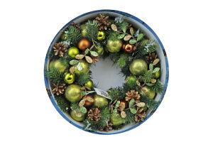 Украшение новогоднее Foxtale Венок разноцвет 40см