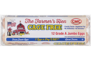 The Farmer's Hen Cage Free Grade A Jumbo Eggs - 12 CT