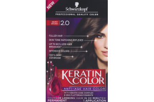 Schwarzkopf Keratin Color Permanent Anti-Age Hair Color 2.0 Ebony Brown