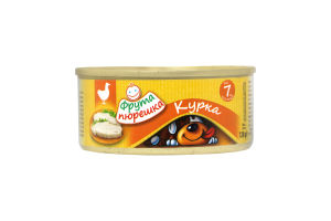 Пюре для детей от 7мес Курица Фрута пюрешка ж/б 120г