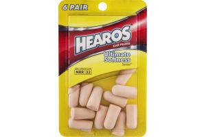 Hearos Ear Plugs Ultimate Softness Series - 6 PR