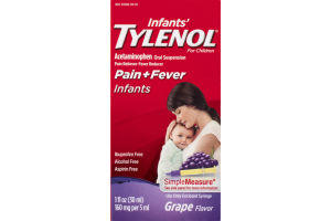 Infants' Tylenol Pain + Fever Infants Liquid Grape