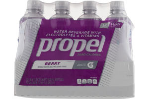 Propel Zero Calories Water Beverage Berry - 12 PK