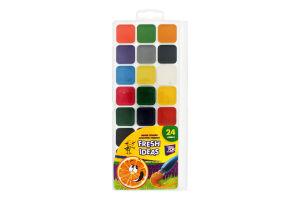 Фарби Fresh Ideas акварельні медові 24 кольори