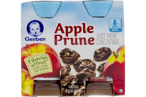 Gerber Juice From Concentrate Apple Prune - 4 CT