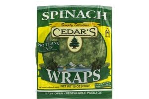 Cedar's Wraps Spinach