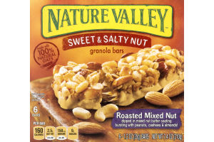 Nature Valley Sweet & Salty Nut Granola Bars Roasted Mixed Nut - 6 CT
