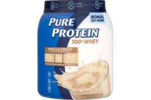 Pure Protein 100% Whey Vanilla Cream