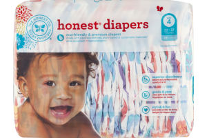 The Honest Co. Honest Diapers Painted Feathers Size 4 - 29 CT