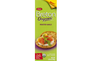 Dare Breton Organic Cracker Roasted Garlic