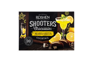 Цукерки шоколадні Margarita coctail Shooters Roshen к/у 150г