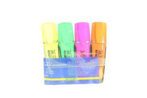 Комплект з 4-х флуор. текст-маркерів BuroМax 260, блістер