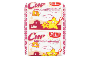 Сир кисломолочний 5% Кагма м/у 230г