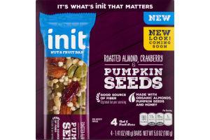 Init Nut & Fruit Bar Roasted Almond, CRanberry & Pumpkin Seeds Bars - 4 CT