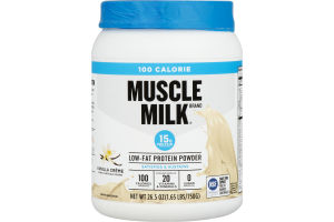 Muscle Milk Low-Fat Protein Powder Vanilla Creme
