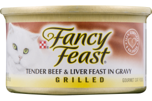 Fancy Feast Tender Beef & Liver Feast in Gravy Grilled Gourmet Cat Food