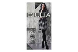 Колготки жіночі Giulia Lucky Cotton 200den 5-XL nero