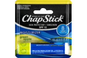ChapStick Skin Protectant and Sunscreen SPF 12 Lip Balm Green Apple