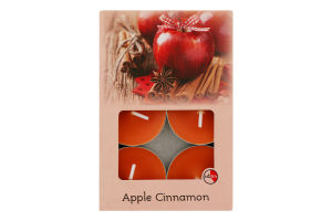 Свічки ароматичні TL6A/1 №604161 Apple Cinnamon ВФ Олтексхім 6шт