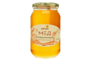 Мед монофлорный Подсолнечный Бартнік с/б 1200г