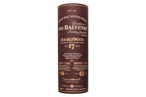 Віскі Balvenie DoubleWood 17years 43% 0.7л (тубус)