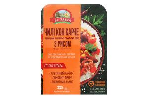 Чилі кон карне з овочами в пряному томатному соусі з рисом La Pasta к/у 330г
