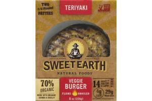 Sweet Earth Veggie Burger Teriyaki - 2 CT