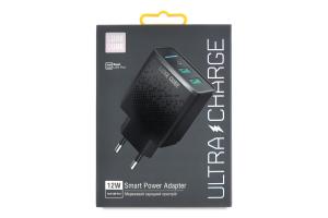 Пристрій зарядний чорний 12W 2.4A Smart Luxe Cube 1шт