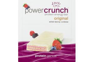 Power Crunch Protein Energy Bar Original Wild Berry Creme - 12 CT