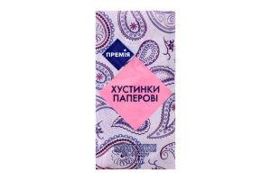 Платочки носПремія бумажные без аромата 3-слойные