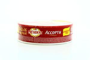 Сыр плавленый President Ассорти 45% 280г 16 секций
