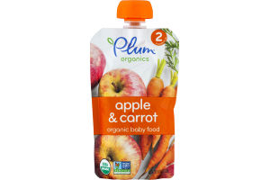 Plum Organics Apple & Carrot Organic Baby Food