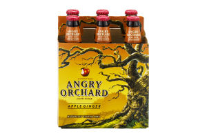 Angry Orchard Hard Cider Apple Ginger - 6 PK