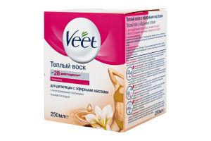 Воск для депиляции теплый с эфирными маслами Veet 250мл