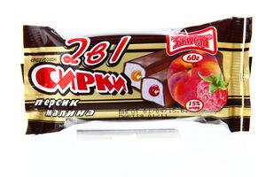 Сырок Злагода 2в1 глазир персик/малина 60г