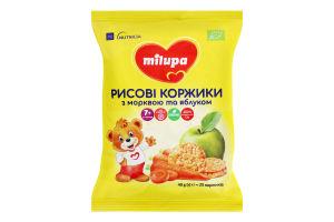 Лепешки для детей от 7мес рисовые с морковью и яблоком Milupa м/у 40г