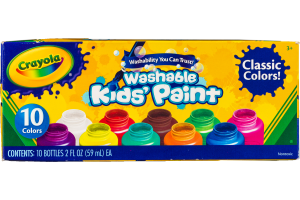 Crayola Kids' Paint Washable Classic Colors - 10 CT