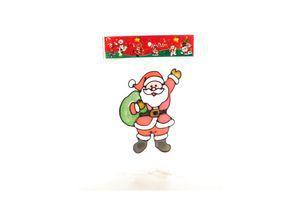 Наклейка на вікно новорічна Санта-Клаус SWE-171