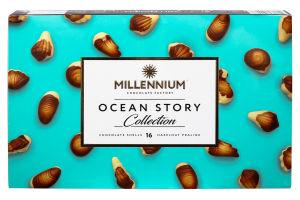 Конфеты шоколадные с ореховым пралине Ocean Story Millennium к/у 170г