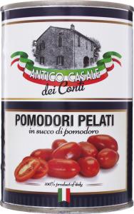 Томати очищ(пелаті) у влас соку Antico Casale425 мл