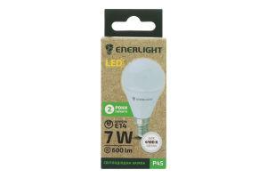 Лампа светодиодная 4100K 600lm 7W E14 P45 Enerlight 1шт