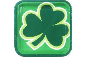 Hallmark Party St. Patrick's Big Shamrock Plates - 8 CT