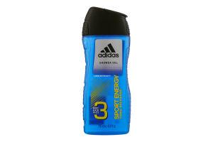 Гель для душу для чоловіків Sport Energy 3in1 Adidas 250мл