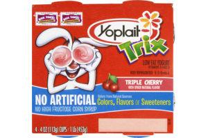 Yoplait Trix Triple Cherry Lowfat Yogurt - 4 CT