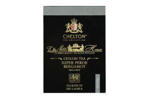 Чай черный цейлонский листовой с натуральным маслом и кусочками бергамота Super Pekoe The Noble House Chelton к/у 100г