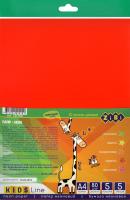 Набір паперу неонових кольорів 5 аркушів 5 кольорів А4 №ZB.1910 Kids Line Zibi 1шт